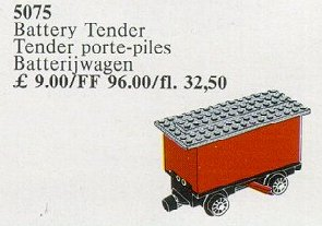 5075-1 Tender 4.5V Battery Red. For Trains with Battery Motor 810