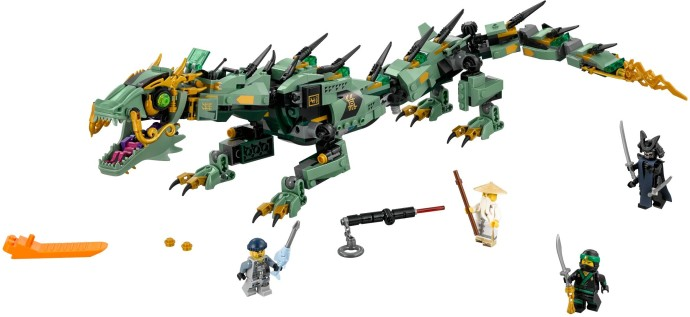 70612-1 Green Ninja Mech Dragon