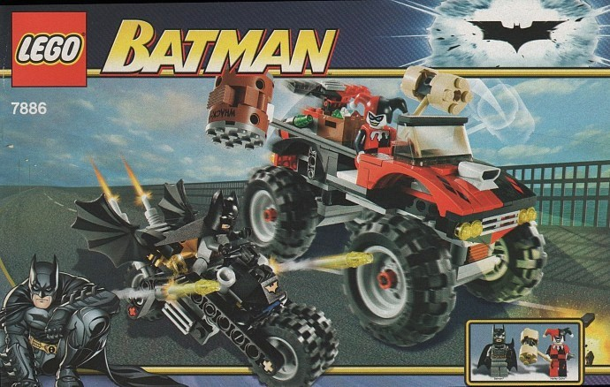 7886-1 The Batcycle: Harley Quinn's Hammer Truck
