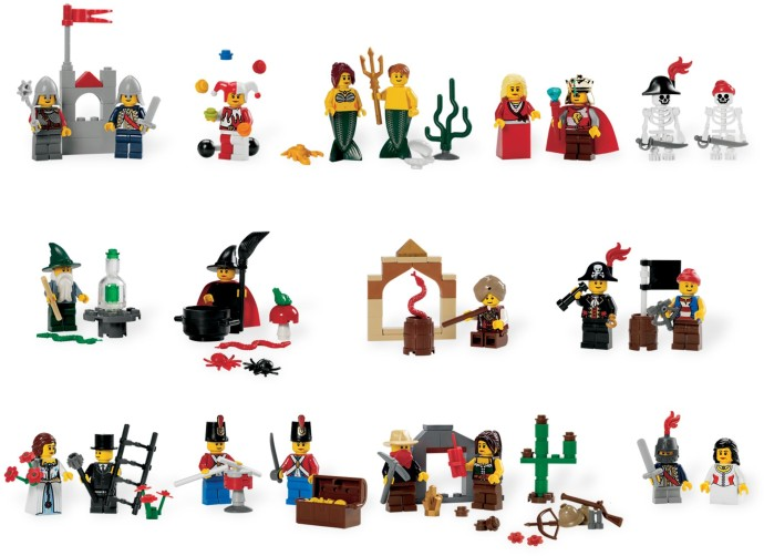 9349-1 Fairytale and Historic Minifigure Set