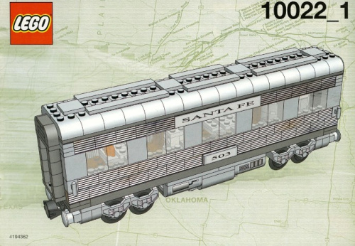 10022-1 Santa Fe Cars - Set II