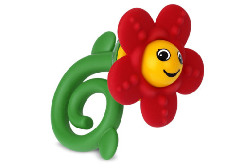 5460-1 Happy Flower Rattle & Teether