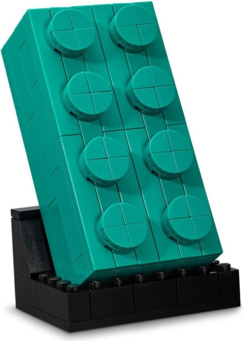 6346102-1 Buildable 2x4 Teal Brick