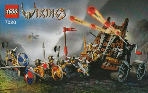 7020-1 Army of Vikings with Heavy Artillery Wagon