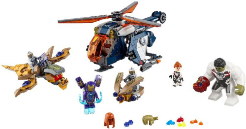 76144-1 Avengers Hulk Helicopter Rescue