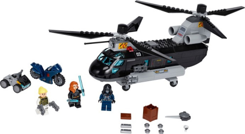 76162-1 Black Widow's Helicopter Chase