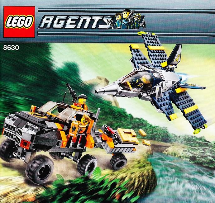 INSTRUCTION BOOK ONLY No Lego bricks Lego Agents 8631 Jetpack Pursuit